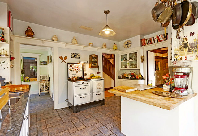 Vintage kitchen and stove