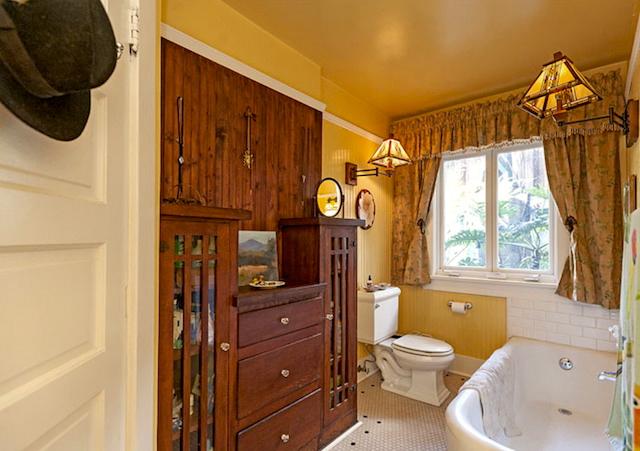 Bath with original built-in vanity
