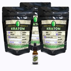 12oz Kratom Powder and Liquid Kratom Extract