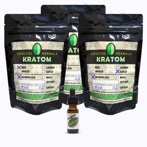 12oz Kratom Powder and Liquid Kratom Extract