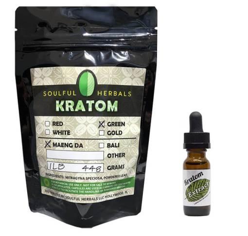 1 Lb Discount Kratom Bundle with Liquid Kratom Extract