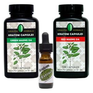200 Kratom Capsules + 15ml Liquid Kratom Extract