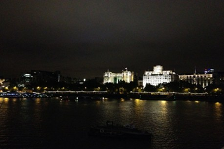 The River Thames at night - taken by Sue Ellam