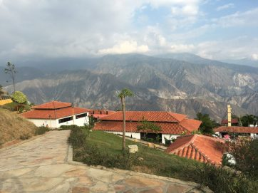 Mountain view at Chicamocha National Park (Parque Nacional del Chicamocha), Colombia. Taken by Peter Thompson, UK.