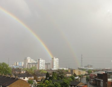 Double rainbow in East London. Taken by Peter Thompson