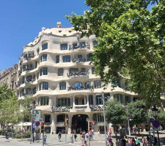Casa Mila by Anton Gaudi, Barcelona, Spain. Photo taken by Peter Thompson