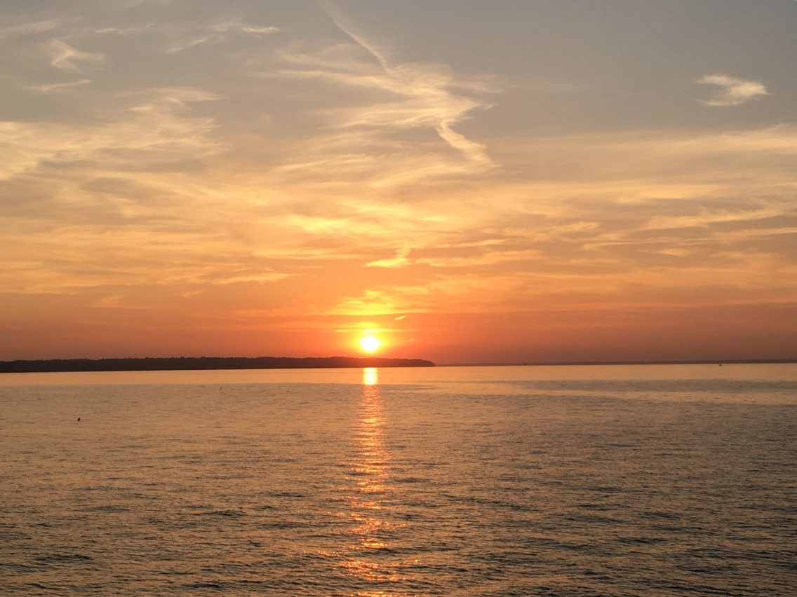 A beautiful sunset taken from the Isle of Wight, UK. Photo taken by Peter Thompson