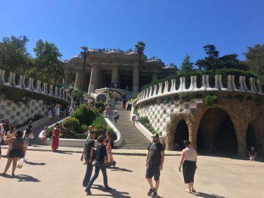Inside Gaudi Park, Barcelona, Spain. Taken by Ervin Corzo.