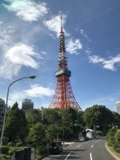 Tokyo Tower: communications and observation tower in the Shiba-koen district of Minato, Tokyo, Japan. Taken by Ervin Corzo.