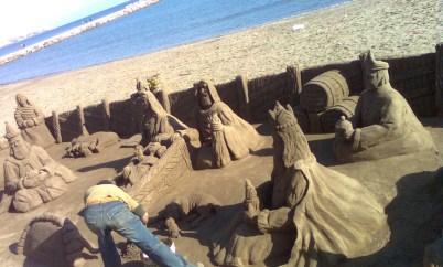 Nativity scene created in sand, Fuengirola, Spain. Taken by Ervin Corzo.