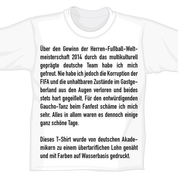 #WM2014 Fanshirt