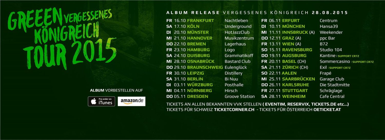 GReeen Tourdaten 2015