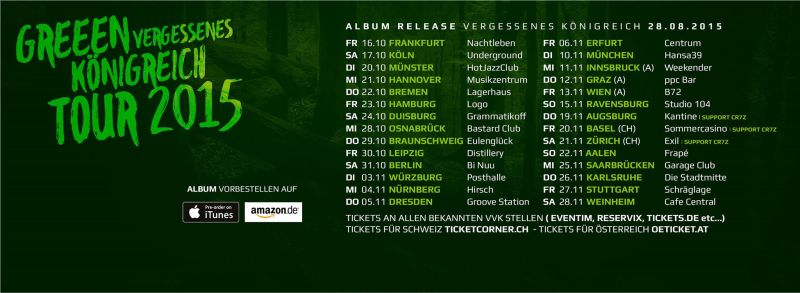 GReeen Tourdaten 2015