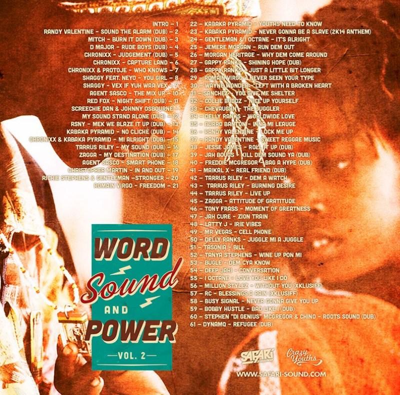 WORD, SOUND & POWER VOL. 2 Back