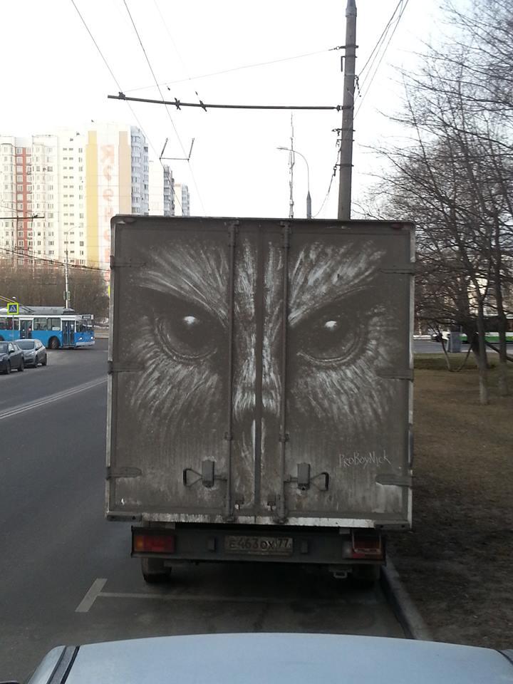 Instagram-Tipp: #dirtpainting - ProBoyNick verwandelt verdreckte Fahrzeuge in fahrende Kunstwerke