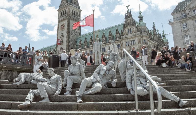 1000 GESTALTEN | großartige Kunstaktion zum G20-Gipfel! | #1000GESTALTEN #AllesAllen #G20HH