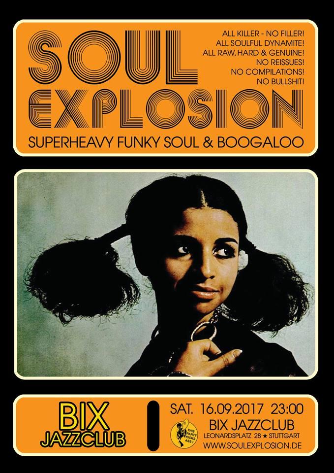 SOUL EXPLOSION am 16.09.17 im BIX Jazzclub Stuttgart!