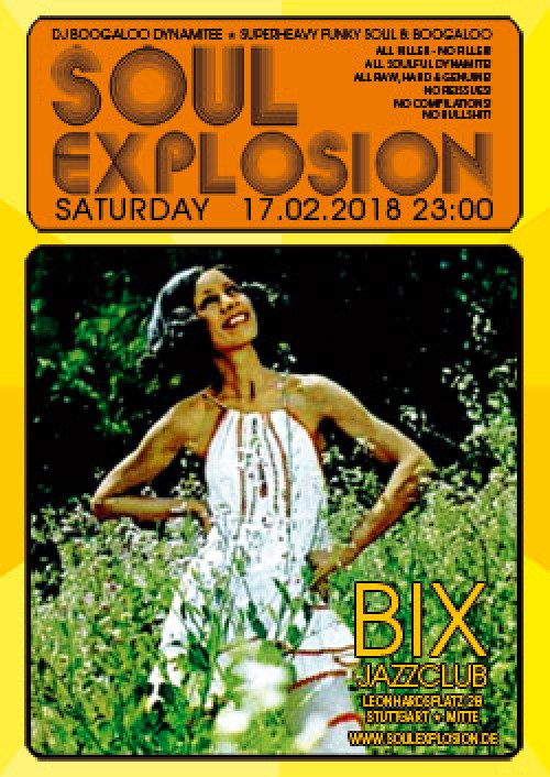 SOUL EXPLOSION am 17.2.18 im BIX Jazzclub Stuttgart