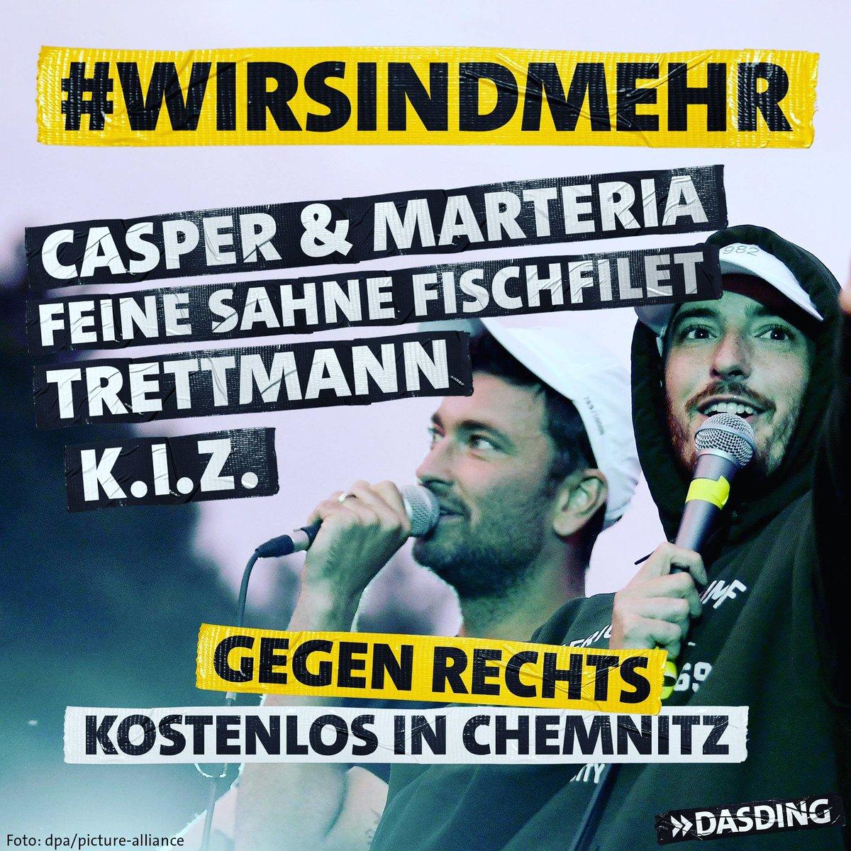 #wirsindmehr - UPDATE: Das Konzert gegen Rechts wird am Montag von diversen Radiosendern in ganz Deutschland übertragen!