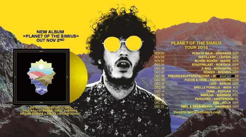 """KID SIMIUS veröffentlicht mit """"PLANET OF THE SIMIUS"""" Boogie-Pop, handgemachten House, Soul, psychedelischen Rap, sizilianische Arbeiterlieder und immer wieder Referenzen an die goldene Disco-Ära • Video + full album stream + Tourdaten"""