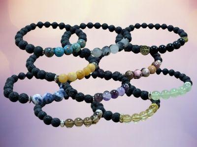 Stone & Lava Bead Bracelets