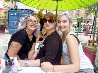 Soulier vert à Metz avec Cherie cream