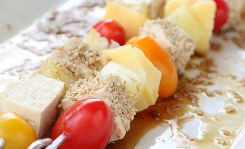 Brochettes veggies sucrées salées