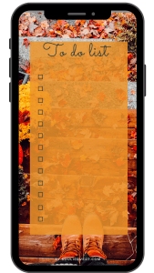To do list automne - version portable