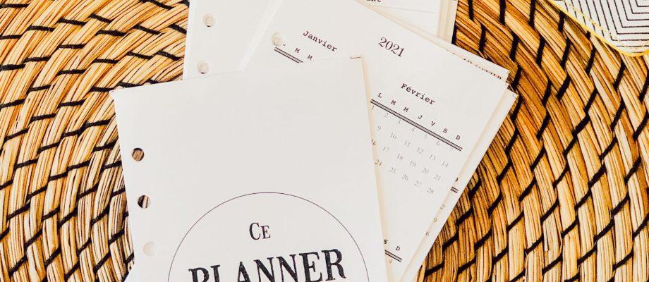 Planner – Bullet journal 2021 à imprimer