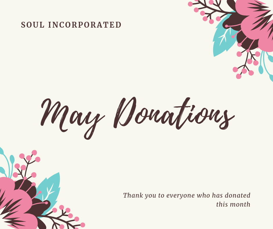 May Donations – Servants of United Love Incorporated