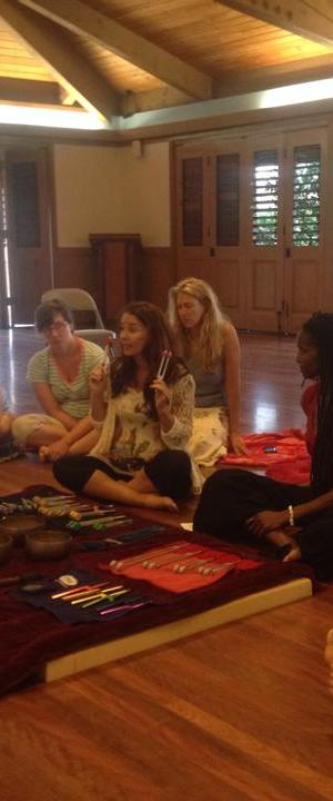 Teaching Tuning Forks Sound Healing Class