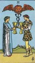 tarot card two of cups soulmates
