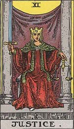 Justice Tarot Card in Soulmate Readings