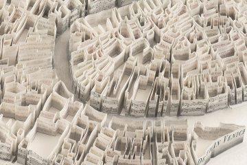 Esculturas de papel de Matthew Picton
