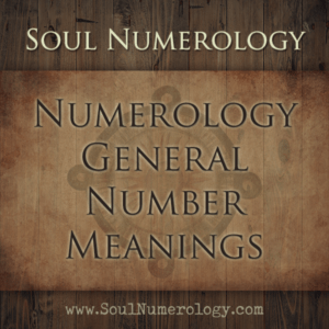 numerology general number meanings