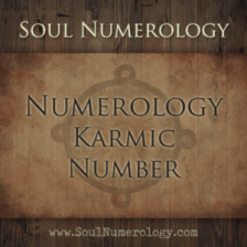karma number numerology