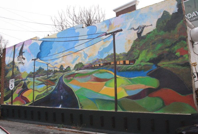 Footnote: I actually got to help paint this mural. It was one of the most amazing experiences.