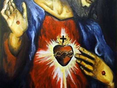 Pursue the Sacred Heart of Jesus [Painting]