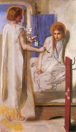 Ecce Ancilla Domin i-Gabriel Rossetti - Annunciation