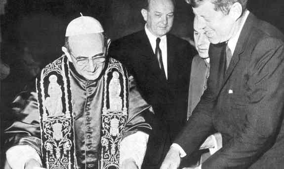 Pope Paul VI and President Kennedy