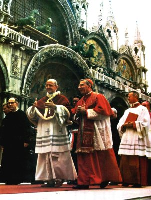 Pope Paul VI and Cardinal Luciani (Future John Paul I)