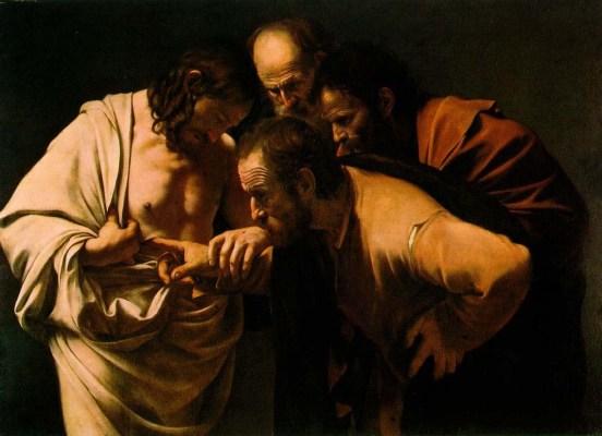 L'incredulita di San Tommaso - Caravaggio