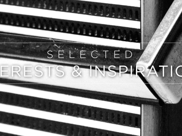 Selected Interests & Inspirations – November 2015