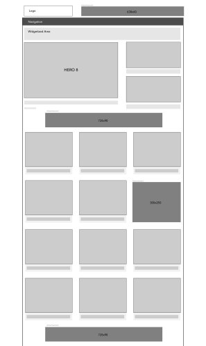 EntertainmentThemeHomeWireframe