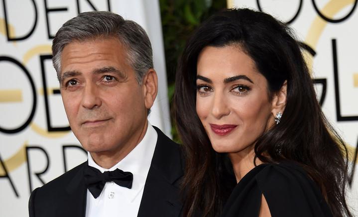 Клуни с женой