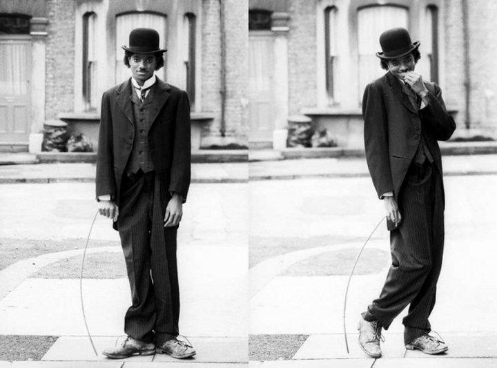 Майкл Джексон «примеряет» на себя образ легендарного комика.