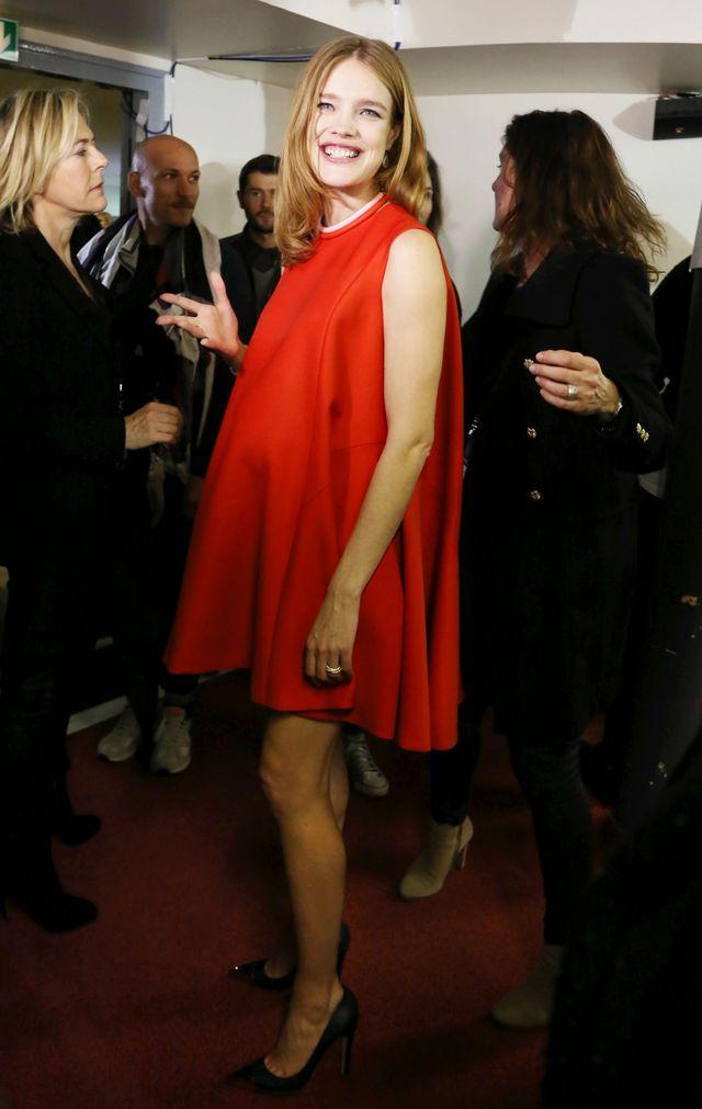 Mandatory Credit: Photo by Aldo Verretti/REX (3601599l) Natalia Vodianova Etam show, Autumn Winter 2014, Paris Fashion Week, France - 25 Feb 2014