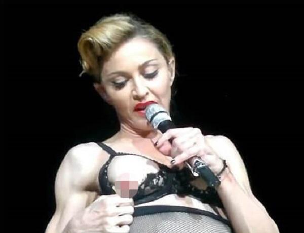 Мадонна. Хотя эта точно не краснеет
