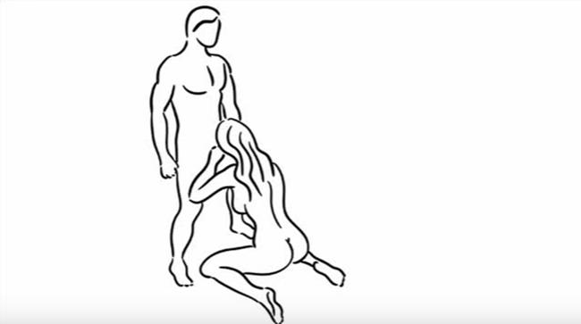 Иллюстрация позы партнеров при интимных отношениях орального секса