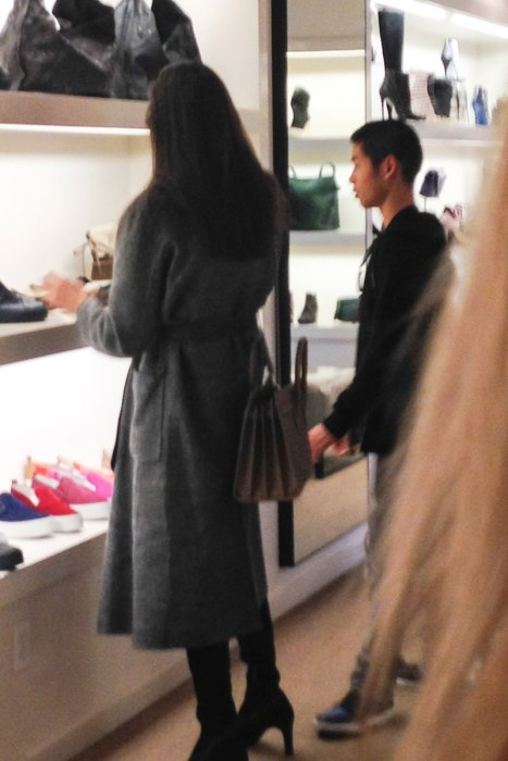 *EXCLUSIVE* Angelina Jolie spends some quality time shopping with her son Pax